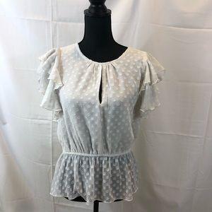 Walter Baker white ruffled blouse